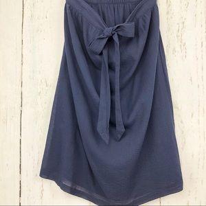 J. Crew Tie-Front Cotton Crinkle Skirt